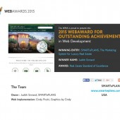 SMARTePLANS Wins 2015 Website Award